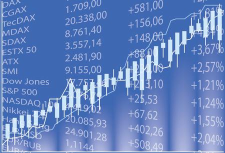 Stock chart - Stock Market Illustration 向量圖像