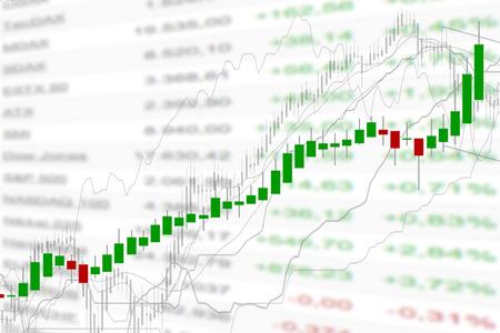 nasdaq: stock market chart, illustration Stock Photo
