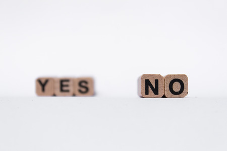 questioned: yes or no text on white background