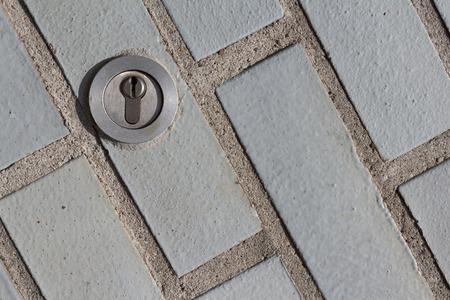 locked door: key lock keyhole
