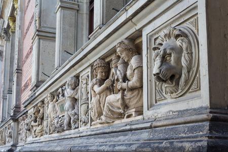historic: Historic building exterior decoration Stock Photo