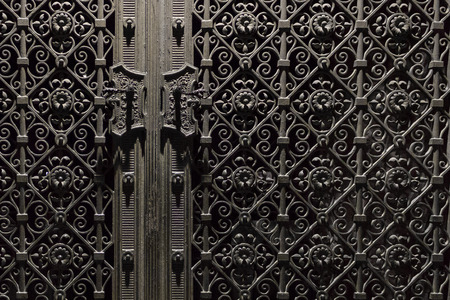 ornamentations: old metal door - beautiful decorated