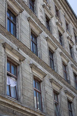 renovate old building facade: old residential building facade, Berlin Kreuzberg