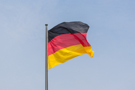 german flag: German flag - Flag of Germany Stock Photo