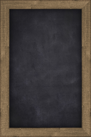 old school: empty chalkboard with wooden frame - background Stock Photo