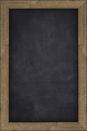 Pizarra vacía con marco de madera - fondo Foto de archivo - 44962254