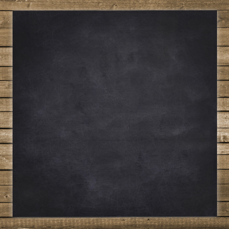 empty black chalkboard background Standard-Bild