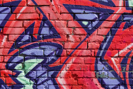 vandalize: graffiti wall background closeup Stock Photo