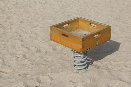 sandpit: childrens toy on outdoor payground in sandpit