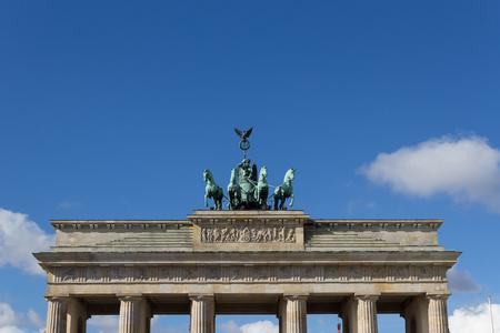 quadriga: Top of The Brandenburg Gate Quadriga in Berlin, Germany
