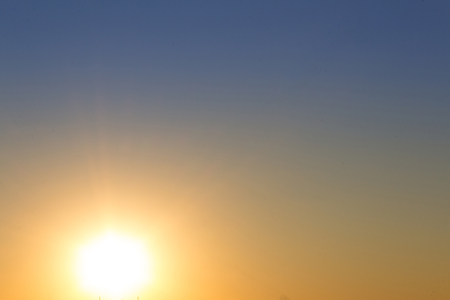 ���clear sky���: sunset sky background - sun and clear sky - color gradient