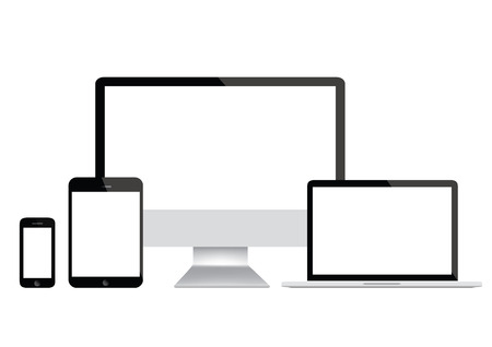 cellphone: Modern computer, laptop, tablet and smartphone Illustration