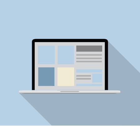 screen: modern notebook screen illustration.