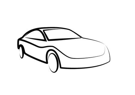 auto illustratie: sports car outlines. modern car illustration. car vector image