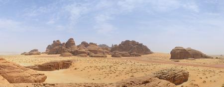 arabia: Desert landscape - mountains Saudi Arabia Stock Photo