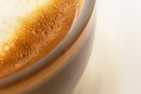 cortado: coffee milk closeup - Cafe Latte Stock Photo