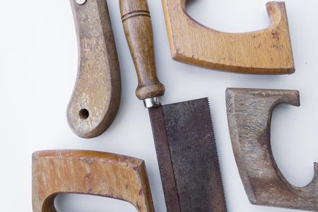 handsaw: vio aislado viejo serrucho - Herramientas de �poca