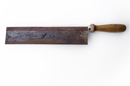 serrucho: vio aislado viejo serrucho - Herramientas de �poca