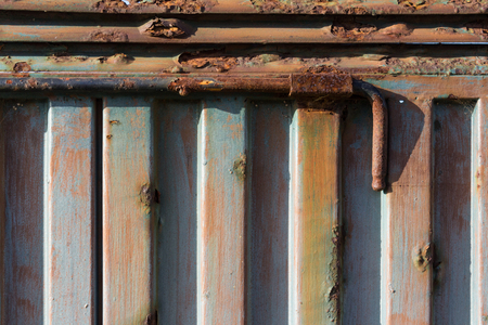 iron bars: old rusty metal bolt  rusted locking bar