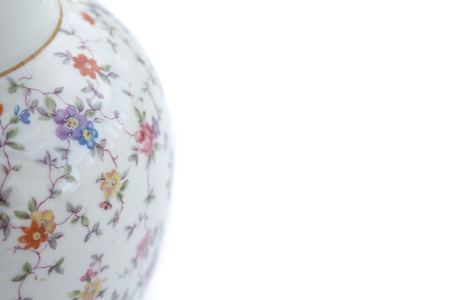porcelain flower: porcelain vase detail with flower design,
