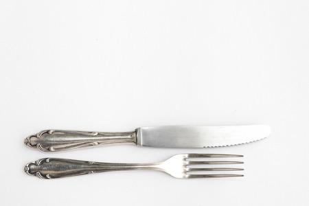 silver flatware: knife, fork - sterling cutlery, silver flatware set