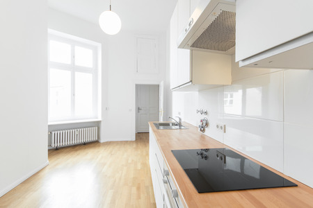 modern kitchen, fresh renovated flat