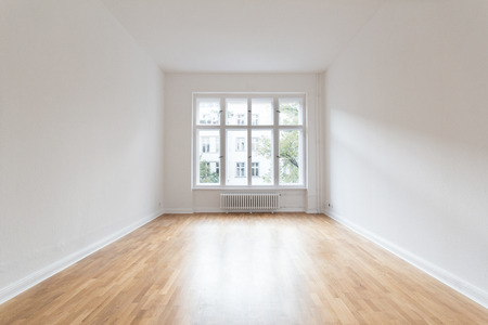 renovation property: empty room, renovated flat