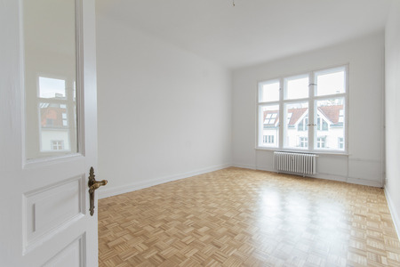 renovated: empty room, renovated flat