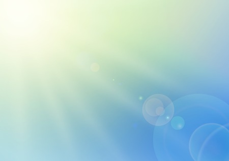 vital: sky and sunburst background - sunlight on blue sky illustration