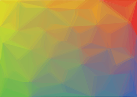 color spectrum: low poly polygon background - color spectrum illustration