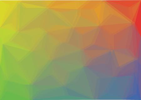 low poly polygon background - color spectrum illustration