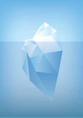 tip of iceberg: tip of the iceberg illustration -low poly polygon graphic Illustration