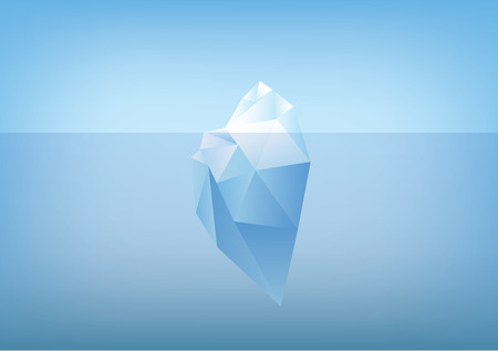 tip of the iceberg illustration -low poly polygon graphic Stock Illustratie