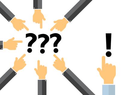 problem solution concept - thinkdifferent concept Illustration