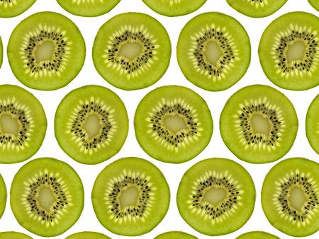 tranché modèle kiwi fruit - kiwis coupés en deux