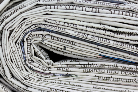 pile of newspapers: newspapers closeup, pile of newspapers Stock Photo