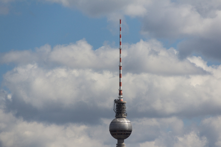 tv tower: tv tower berlin germany , sky, clouds and berlin tv tower