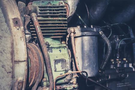 obsolete: old motor engine - obsolete industrial machinery