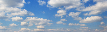 good heavens: blue sky panorama - sky and clouds