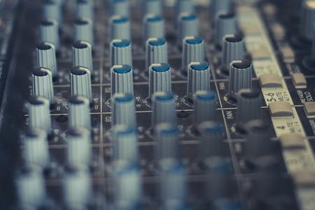 music mixer - studio equipment macro Imagens