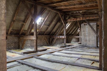 roof framework: inside roof framework flats before construction