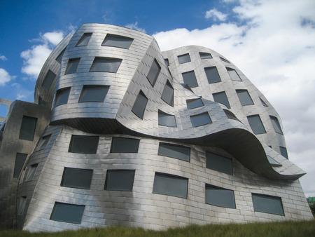 alzheimer s disease: Las Vegas, USA - june 16, 2016: The melting building facade of the Lou Ruvo Center for Brain Health near Las Vegas, Nevada