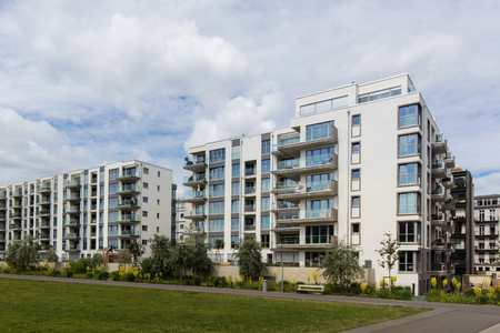 residential: modern residential building complex - apartment house