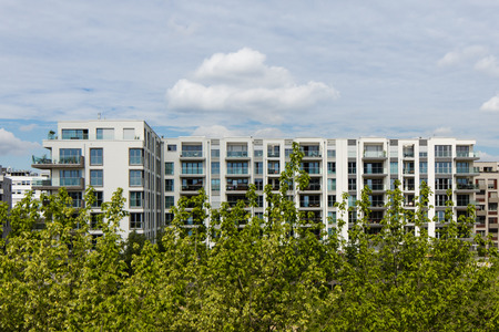 building estate: modern apartment building - real estate exterior
