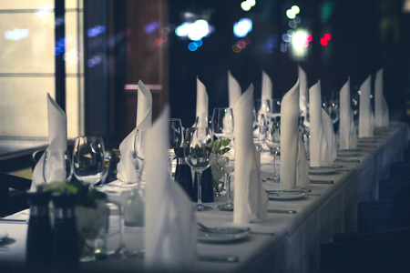 ambient: Beautiful decorated dinner table  - ambient restaurant concept