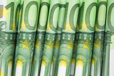 trillion: stacked one hundred euro bills - european money