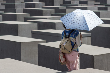 holocaust: The Memorial to the Murdered Jews of Europe, also known as the Holocaust Memorial in Berlin. Editorial