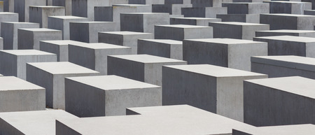 holocaust: Berlin, Germany - July 20, 2016: The Memorial to the Murdered Jews of Europe, also known as the Holocaust Memorial in Berlin.