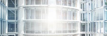 추상 사무실 건물 외관 - 유리 외관