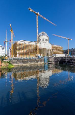 Berlin, Germany - september 6, 2016: Reconstruction of the Berlin Palace ( Stadtschloss)  Berlin City Palace.